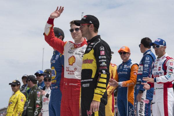 Josef Newgarden, Team Penske Chevrolet, during driver introductions