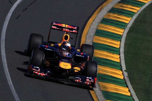 Sebastian Vettel (GER) Red Bull Racing RB8. Formula One World Championship, Australian Grand Prix, Rd1, Qualifying Day, Albert Park, Melbourne, Australia, Saturday 17 March 2012.