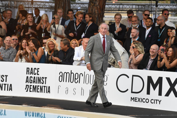 Monte Carlo, Monaco. Friday 26 May 2017. Jackie Stewart (GBR) at the Amber Lounge Fashion Show, Le Meridien Beach Plaza Hotel, Monaco World Copyright: Mark Sutton/Sutton/LAT Images ref: Digital Image dcd1727my370
