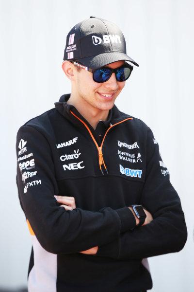 Monte Carlo, Monaco. Wednesday 24 May 2017. Esteban Ocon, Force India. World Copyright: Charles Coates/LAT Images ref: Digital Image AN7T9529