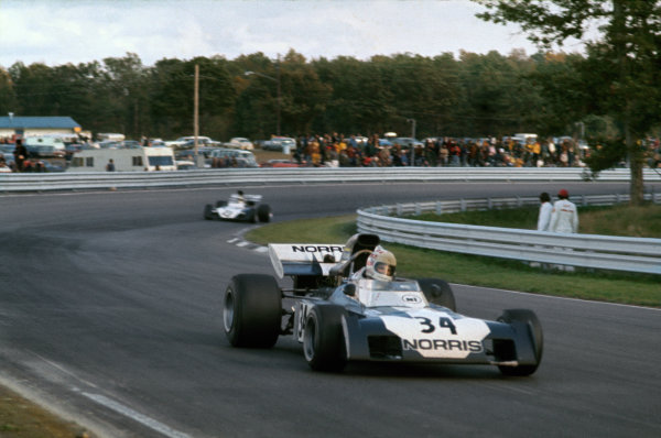 Watkins Glen, New York, USA. 6-8 October 1972.Sam Posey, Surtees TS9B-Ford, 12th position, leads Mike Hailwood, Surtees TS9B-Ford, 17th position, action. World Copyright: LAT Photographic.Ref:  72USA40.