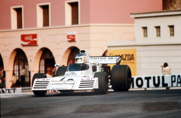 Monte Carlo, Monaco.31/5-3/6 1973.Carlos Reutemann (Brabham BT42 Ford).Ref-73 MON 26.World Copyright - LAT Photographic