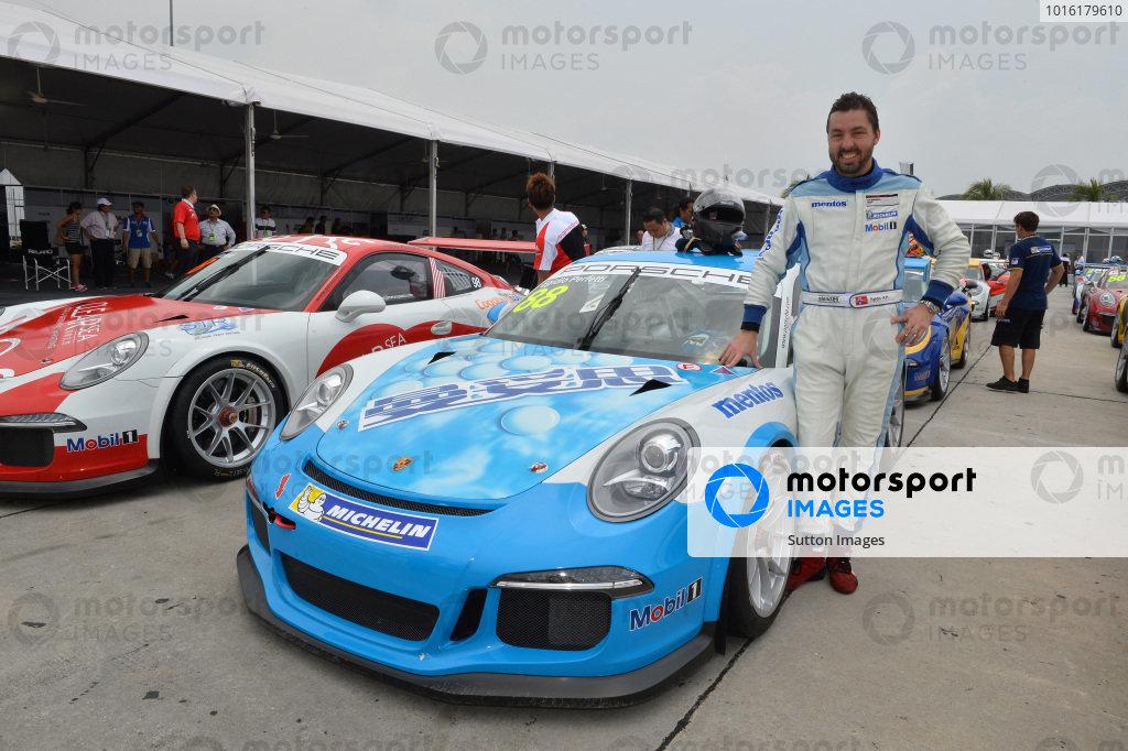 Egidio Perfetti (SIN) Mentos Racing Team. Porsche Carrera Cup Asia, Sepang, Malaysia, 28-30 March 2014.