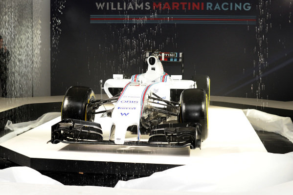 The Williams Martini Racing liviried Williams FW36. Williams Martini Racing 2014 Team Launch, London, England, Thursday 6 March 2014.