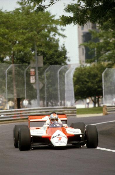 Detroit, Michigan, USA.4-6 June 1982.John Watson (McLaren MP4B Ford) 1st position.Ref-82 USA 07.World Copyright - LAT Photographic