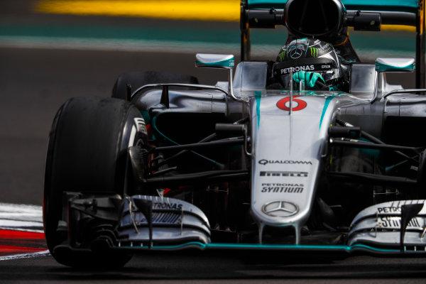 Autodromo Hermanos Rodriguez, Mexico City, Mexico. Friday 28 October 2016. Nico Rosberg, Mercedes F1 W07 Hybrid. World Copyright: Glenn Dunbar/LAT Photographic ref: Digital Image _X4I6839