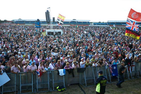 Silverstone, Northamptonshire, England. Sunday 6 July 2014. Huge crowds at the F1 stage. World Copyright: Steve Etherington/LAT Photographic. ref: Digital Image SNE19956