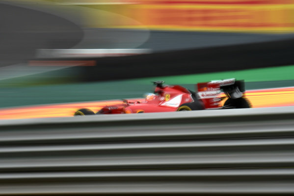 Fernando Alonso (ESP) Ferrari F14 T. Formula One World Championship, Rd18, Brazilian Grand Prix, Qualifying, Sao Paulo, Brazil, Saturday 8 November 2014.