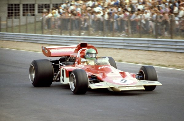 1971 German Grand Prix.Nurburgring, Germany. 30th July - 1st August 1971.Reine Wisell (Lotus 72D-Ford) 8th position, action.World Copyright: LAT Photographic.ref: 35mm Colour Transparency.