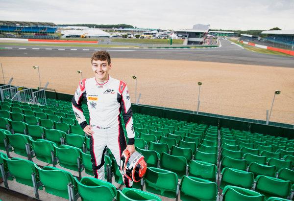 2017 GP3 Series Round 3.  Silverstone, Northamptonshire, UK. Thursday 13 July 2017. George Russell (GBR, ART Grand Prix).  Photo: Zak Mauger/GP3 Series Media Service. ref: Digital Image _56I6408