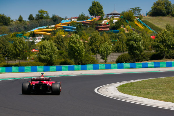 Hungaroring, Budapest, Hungary.  Tuesday 01 August 2017. Charles Leclerc, Ferrari SF70H. World Copyright: Joe Portlock/LAT Images  ref: Digital Image _L5R1263
