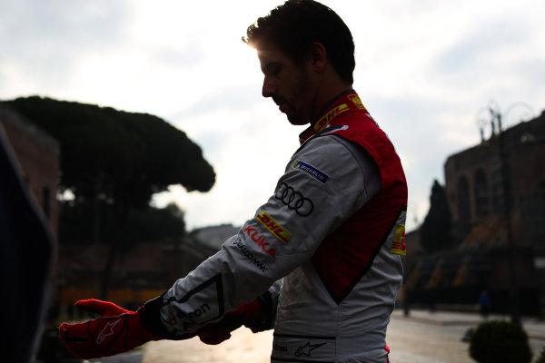2017/2018 FIA Formula E Championship. Street Demonstration - Rome, Italy. Lucas Di Grassi (BRA), Audi Sport ABT Schaeffler. Thursday 19 October 2017. Photo: Malcom Griffiths/LAT/Formula E ref: Digital Image IMG_8960