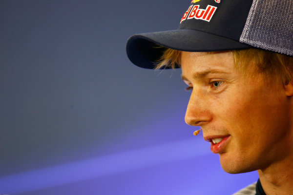 Circuit of the Americas, Austin, Texas, United States of America. Thursday 19 October 2017. Brendon Hartley, Toro Rosso, in the press conference. World Copyright: Andy Hone/LAT Images  ref: Digital Image _ONZ4935
