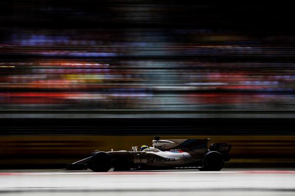 Marina Bay Street Circuit, Marina Bay, Singapore. Sunday 17 September 2017. Felipe Massa, Williams FW40 Mercedes.  World Copyright: Zak Mauger/LAT Images ref: Digital Image _56I7866