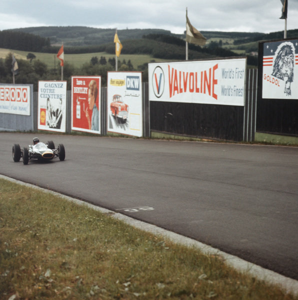 Spa-Francorchamps, Belgium.12-14 June 1964.Dan Gurney (Brabham BT7 Climax) 6th position.Ref-3/1259.World Copyright - LAT Photographic