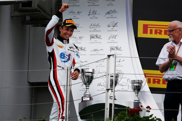 Alexander Albon (THA, ART Grand Prix) walks on to the podium 2016 GP3 Series Round 4 Hungaroring, Budapest, Hungary Sunday 24 July 2016  Photo: /GP3 Series Media Service ref: Digital Image _SBB8275