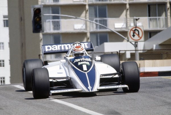 1982 United States Grand Prix West.Long Beach, California, USA. 2-4 April 1982.Nelson Piquet (Brabham BT49D-Ford Cosworth), retired.World Copyright: LAT PhotographicRef: 35mm transparency 82LB13