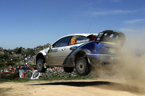 2005 World Rally Championship Rallye d'Italia, Sardinia, Italy. 29th April - 1st May 2005 Antony Warmbold (Ford Focus RS WRC 04), action.World Copyright: McKlein/LAT Photographic ref: Digital Image Only