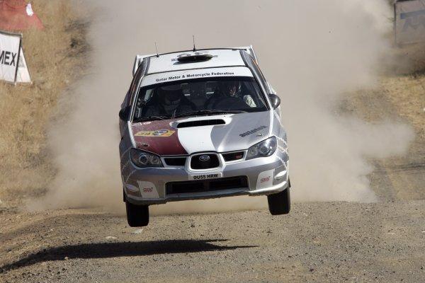 2006 FIA World Rally Champs. Round Three; Rally Mexico.; 2nd - 5th March 2006.Nasser Al-Attiyah, Subaru PWRC, action. World Copyright: LAT/McKlein