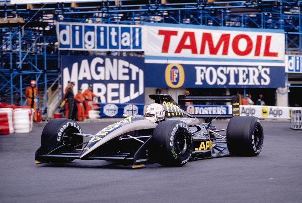 1991 Monaco Grand Prix.Monte Carlo, Monaco. 9-12 May 1991.Gabriele Tarquini (AGS JH25 Ford) at Rascasse.Ref-91 MON 45.World Copyright - LAT Photographic