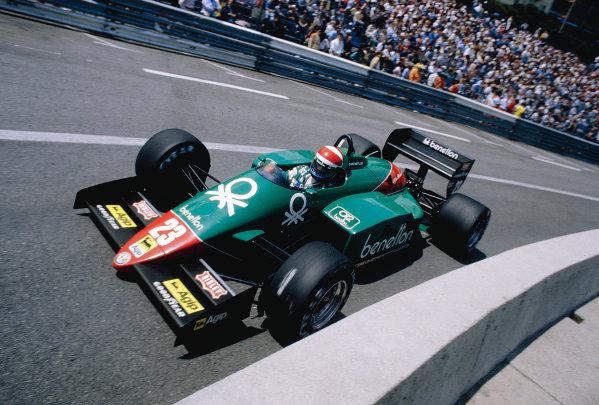 1985 Monaco Grand Prix.Monte Carlo, Monaco.16-19 May 1985.Eddie Cheever (Alfa Romeo 185T).Ref-85 MON 47.World Copyright - LAT Photographic