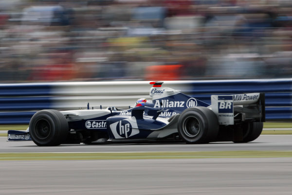 2004 British Grand Prix - Sunday Race,Silverstone, Britain. 11th July 2004 Marc Gene, BMW Williams FW26, action.World Copyright: Steve Etherington/LAT Photographic ref: Digital Image Only