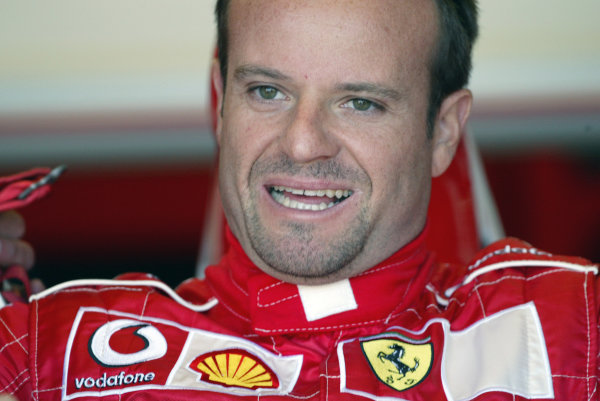 2004 Canadian Grand Prix - Friday Practice,2004 Canadian Grand Prix Montreal, Canada. 11th June 2004 Rubens Barrichello, Ferrari F2004. Portrait.World Copyright: Steve Etherington/LAT Photographic ref: Digital Image Only