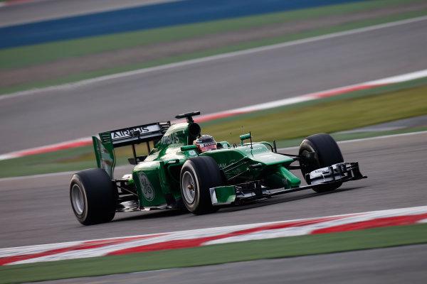 2014 F1 Pre Season Test 2 - Day 3 Bahrain International Circuit, Bahrain. Saturday 22 February 2014. Kamui Kobayashi, Caterham CT05 Renault. World Copyright: Glenn Dunbar/LAT Photographic. ref: Digital Image _W2Q4440