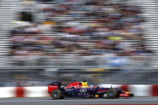 Circuit Gilles Villeneuve, Montreal, Canada. Friday 6 June 2014. Sebastian Vettel, Red Bull Racing RB10 Renault. World Copyright: Glenn Dunbar/LAT Photographic. ref: Digital Image _W2Q4759