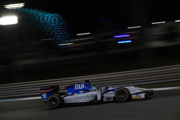 2013 GP2 Series Test 3 Yas Marina Circuit, Abu Dhabi, UAE. Day 3, Thursday 7th November 2013. Facu Regalia (ARG, Barwa Addax Team)  World Copyright: Sam Bloxham/LAT Photographic. ref: Digital Image IMG_5961