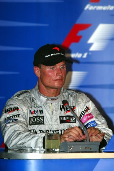 Second placed David Coulthard (GBR) McLaren in the press conference.