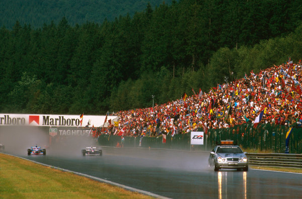Spa-Francorchamps, Belgium.22-24 August 1997.For the first time ever a Grand Prix was started by the safety car, due to the soaking track.Ref-97 BEL 10.World Copyright - LAT Photographic