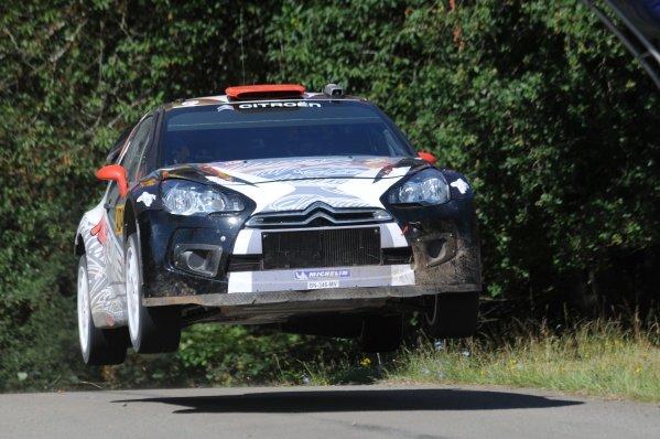 Kimi Raikkonen (FIN), Citroen DS3 WRC, on stage 10. World Rally Championship, Rd9, ADAC Rally Deutschland, Trier, Germany. Day Two, Saturday 20 August 2011.