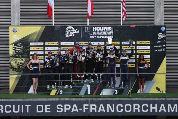 2017 European Le Mans Series  Spa-Franchorchamps, Belgium 22nd-24th September 2017 P3 Podium World copyright. JEP/LAT Images