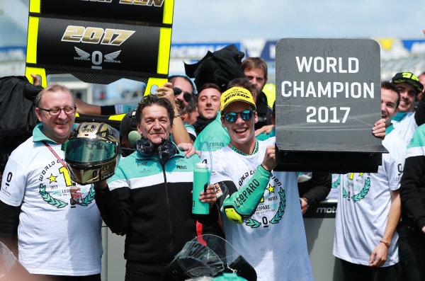 2017 Moto3 Championship - Round 16 Phillip Island, Australia. Sunday 22 October 2017 Champion Joan Mir, Leopard Racing World Copyright: Gold and Goose / LAT Images ref: Digital Image 24360