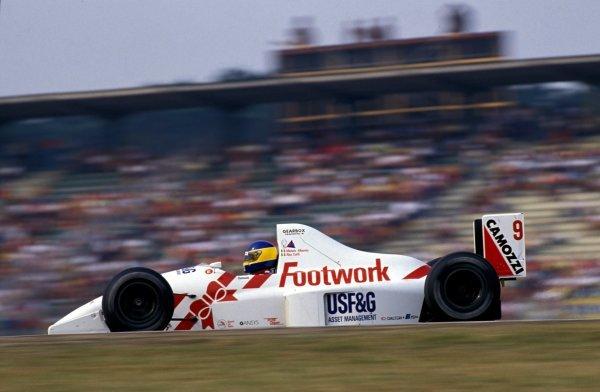 Michele Alboreto (ITA), Arrows Footwork Ford A11. German Grand Prix, Rd9, Hockenheim, Germany. 29 July 1990.