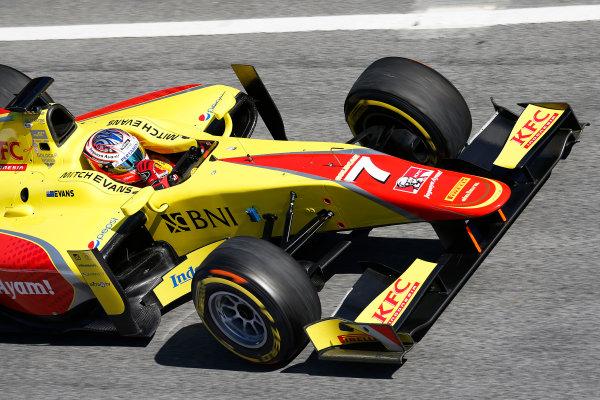 2016 GP2 Series Test 1. Circuit de Catalunya, Barcelona, Spain. Friday 11 March 2016. Mitch Evans (NZL, Jagonya Ayam Campos Racing)  World Copyright: Sam Bloxham/LAT Photographic. ref: Digital Image _R6T9198