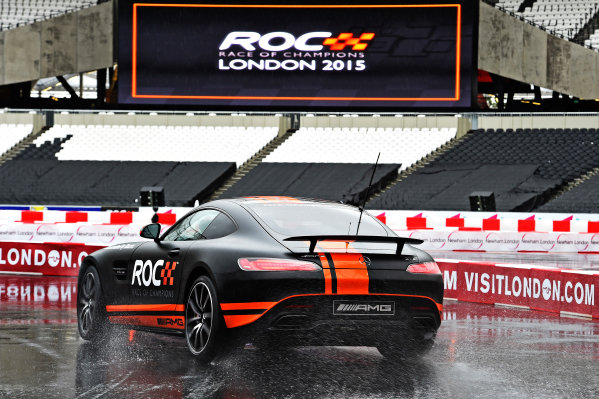 2015 Race Of Champions Olympic Stadium, London, UK Thursday 19 November 2015 Jolyon Palmer (GBR) in the Mercedes-AMG GT S in Practice Copyright Free FOR EDITORIAL USE ONLY. Mandatory Credit: 'Race Of Champions'