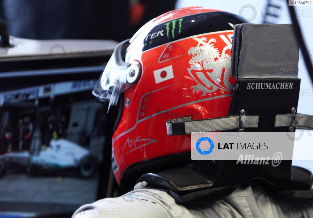Albert Park, Melbourne, Australia 24th March 2011. Michael Schumacher, Mercedes GP W02. Portrait. Helmets.  World Copyright: Steve Etherington/LAT Photographic ref: Digital Image SNE23196