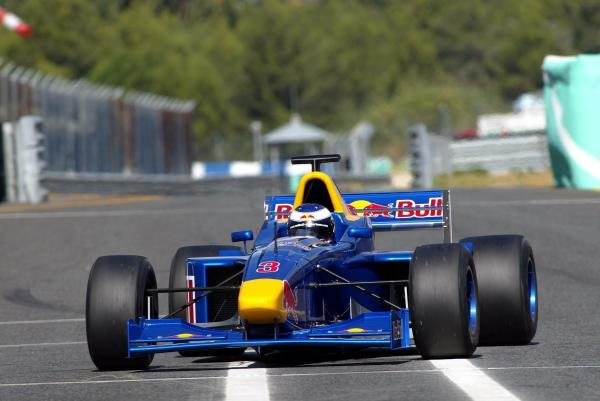 Scott Speed (USA) tests an F3000 car.