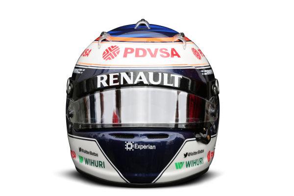 Albert Park, Melboune 14th March 2013 The helmet of Valtteri Bottas, Williams F1. World Copyright: LAT Photographic ref: Digital Image DKAL8656