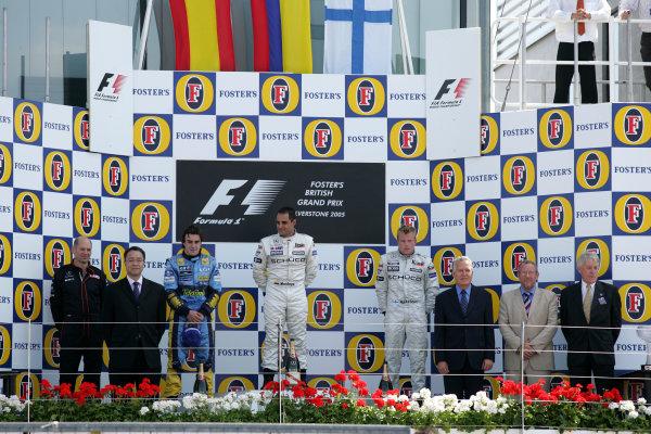 2005 British Grand Prix,Podium, Silverstone, Grand Prix, 10th July 2005 World copyright: Jakob Ebrey/LAT Photographic.