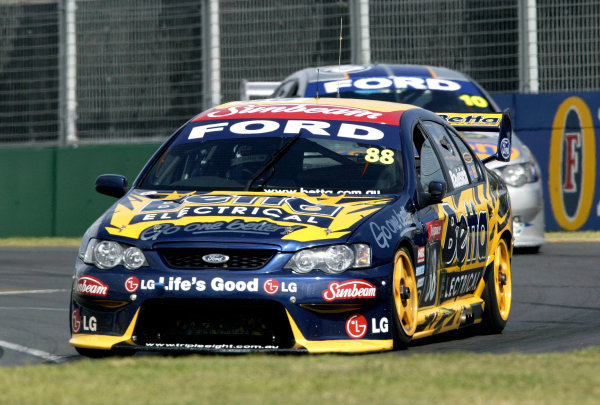 2004 Australian V8 Supercars.Non-Championship Round. Albert Park, Melbourne, 5th - 7th March.Paul Radisich (Ford Falcon BA). World Copyright: Mark Horsburgh/LAT Photographicref: Digital Image Only