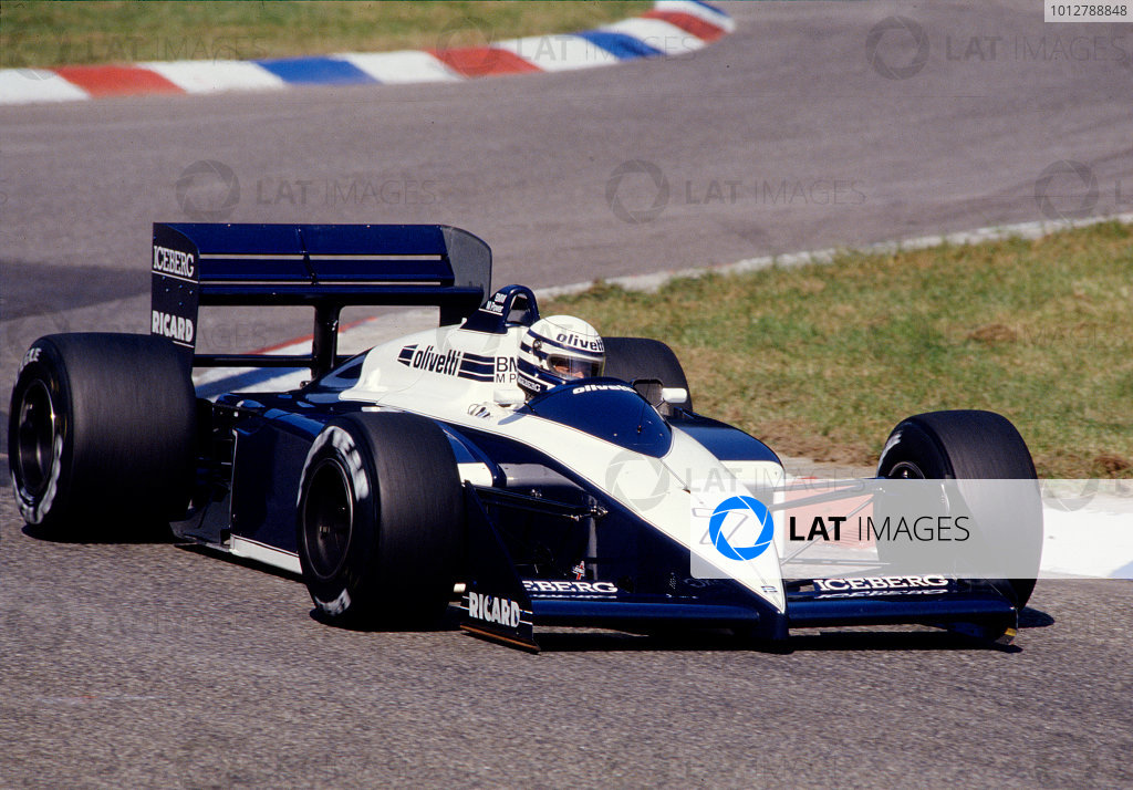 1987 German Grand Prix.Hockenheim, Germany.24-26 July 1987.Riccardo Patrese (Brabham BT56 BMW).Ref-87 GER 26.World Copyright - LAT Photographic