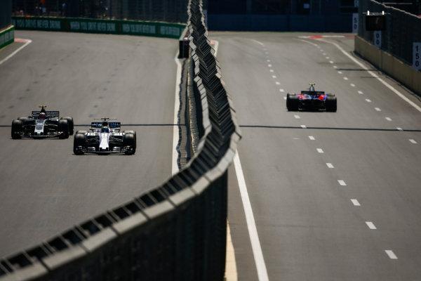 Baku City Circuit, Baku, Azerbaijan. Friday 23 June 2017. Felipe Massa, Williams FW40 Mercedes, leads Kevin Magnussen, Haas VF-17 Ferrari. World Copyright: Andrew Hone/LAT Images ref: Digital Image _ONY8680