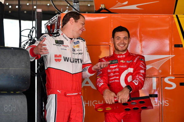 Monster Energy NASCAR Cup Series AAA 400 Drive for Autism Dover International Speedway, Dover, DE USA Friday 2 June 2017 Brad Keselowski, Team Penske, Wurth Ford Fusion, Kyle Larson, Chip Ganassi Racing, Target Chevrolet SS World Copyright: Logan Whitton LAT Images ref: Digital Image 17DOV1LW1504