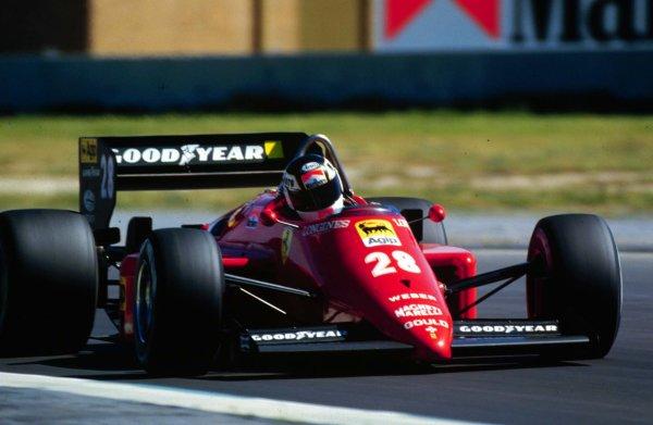 1985 Brazilian Grand Prix.Jacarepagua, Rio de Janeiro, Brazil.5-7 April 1985.Rene Arnoux (Ferrari 156/85) drives his last race before being sacked by Ferrari.World Copyright - LAT Photographic