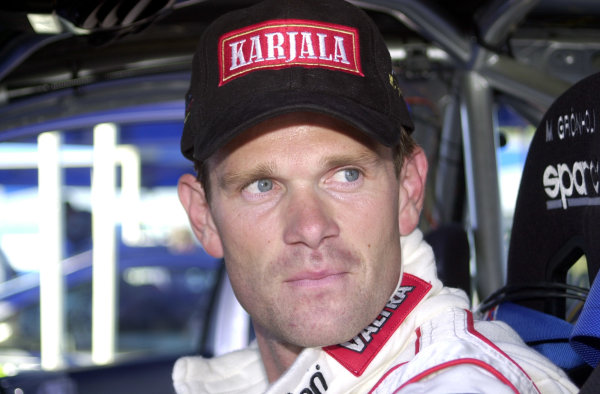 2001 World Rally Championship.Neste Rally Finland. Jyvaskyla, August 24-26, 2001.Marcus Gronholm during shakedown.Photo: Ralph Hardwick/LAT