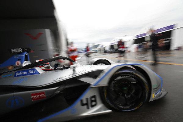 Edoardo Mortara (CHE) Venturi Formula E, Venturi VFE05 exits the garage