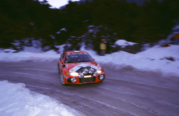 WRC Monte Carlo 2000Rally winner Tommi Makinen's Mitsubishi in action.Photo: McKlein/LAT